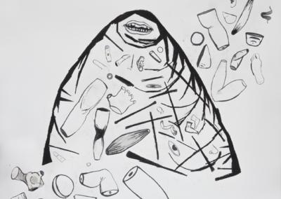 Montaña de restos 2017 Mixta/papel 120 x 140 cm