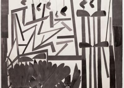 2017 Lápiz, grafito, carbón, pastel y cera 120 x 140 cm