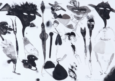 Los del cloro 2010 Mixta/papel, 30 x 45 cm